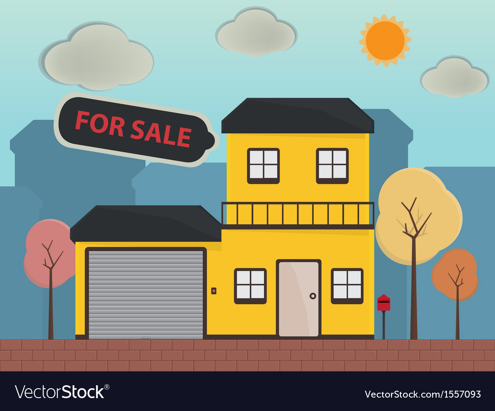 Real estate and property for sale vector | Price: 1 Credit (USD $1)