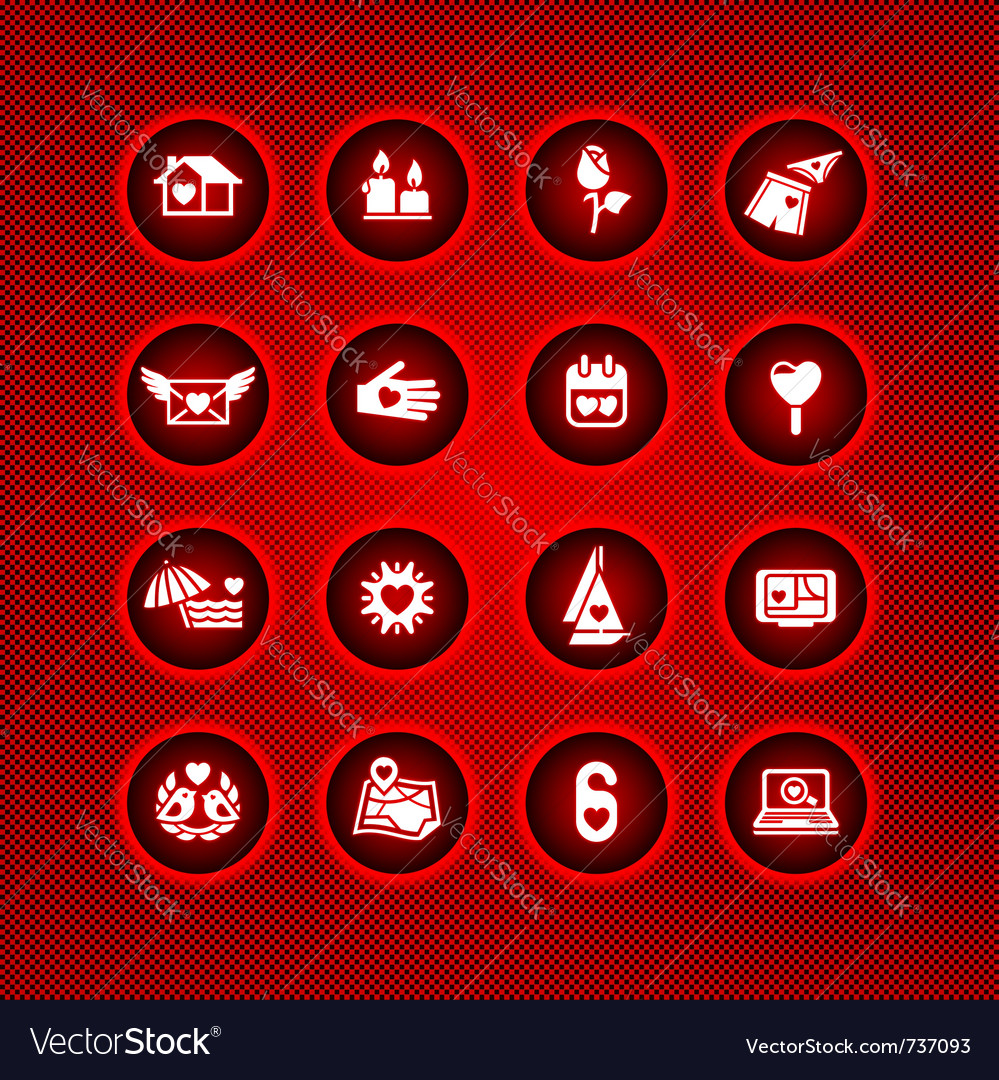 Set valentines day icons love romantic sign vector | Price: 1 Credit (USD $1)