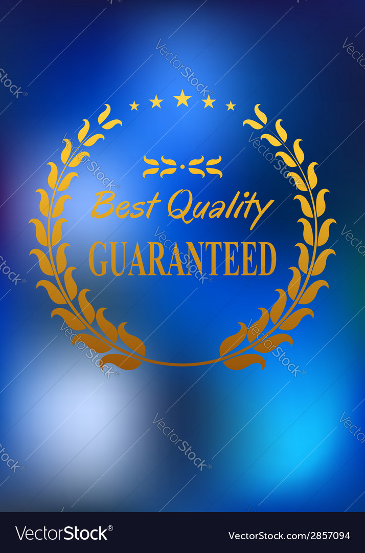 Best quality product label or emblem vector | Price: 1 Credit (USD $1)