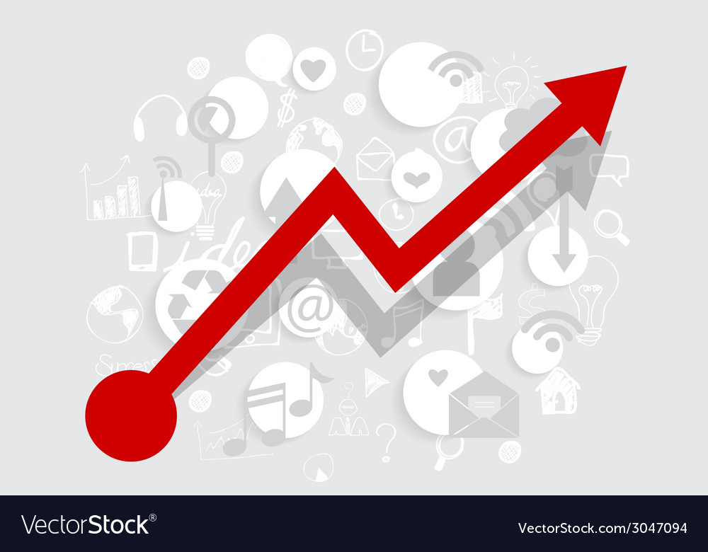 Business growing graph with application vector   Price: 1 Credit (USD $1)