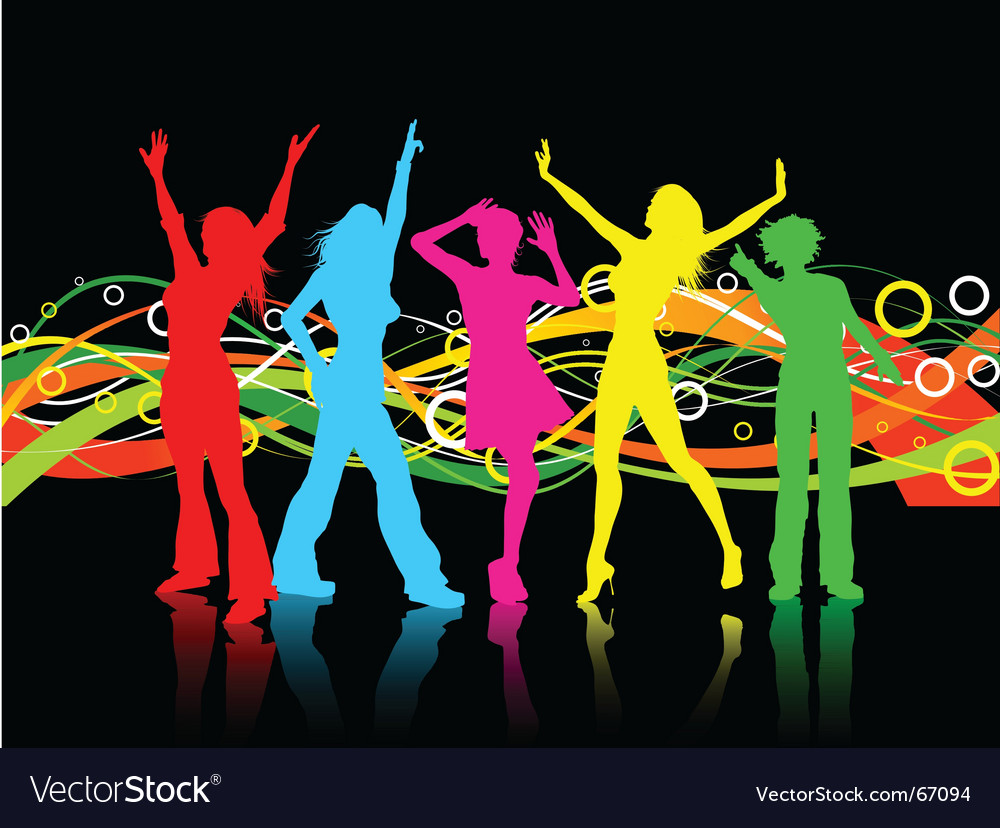 Female dancers vector | Price: 1 Credit (USD $1)