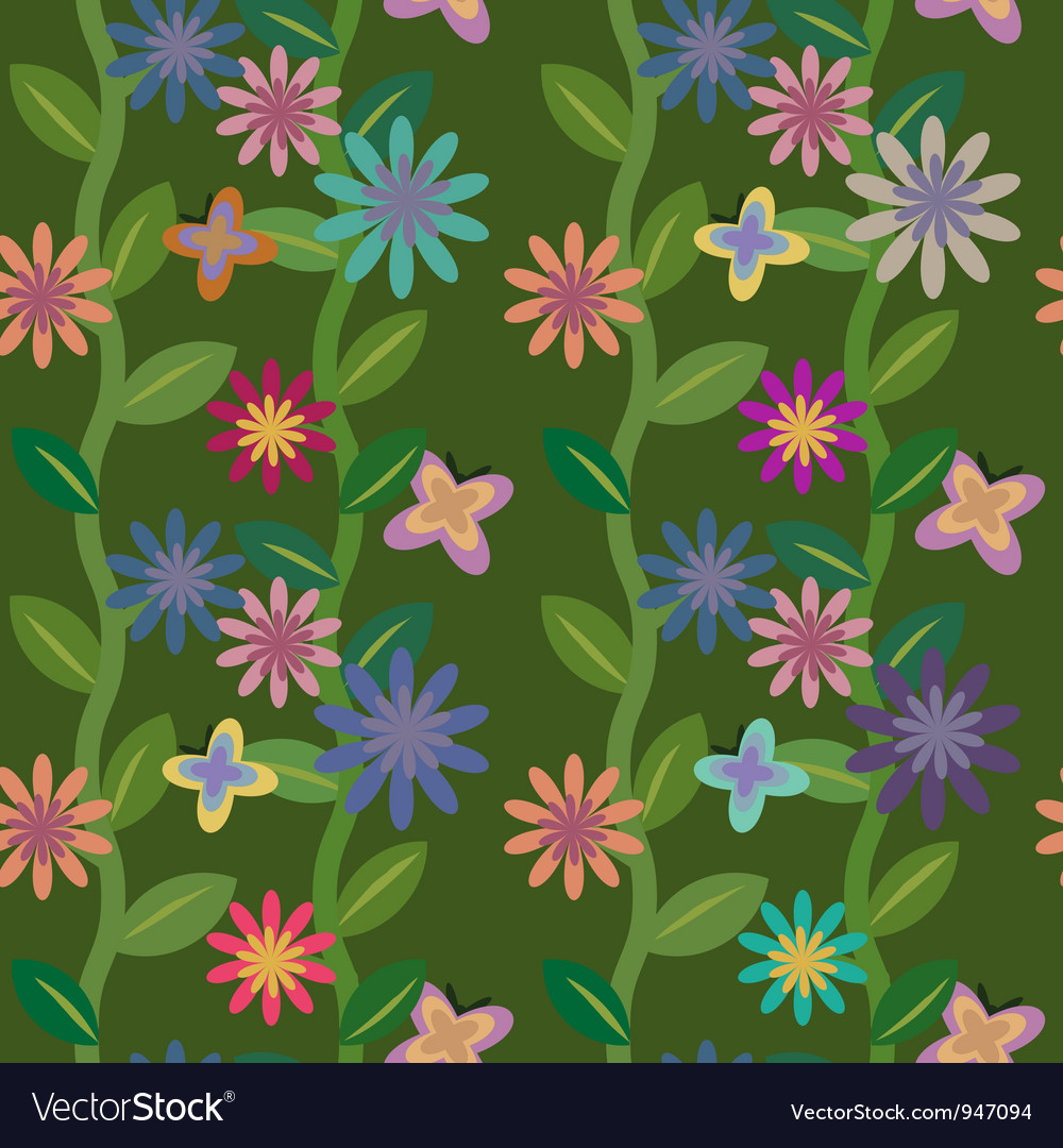 Flowering field vector | Price: 1 Credit (USD $1)