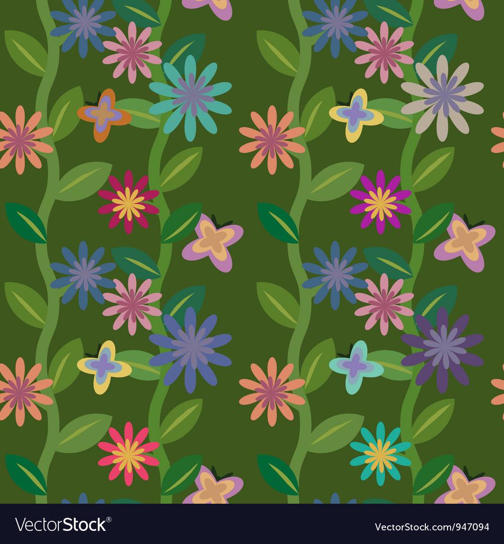 Flowering field vector | Price: 1 Credit (USD $1)
