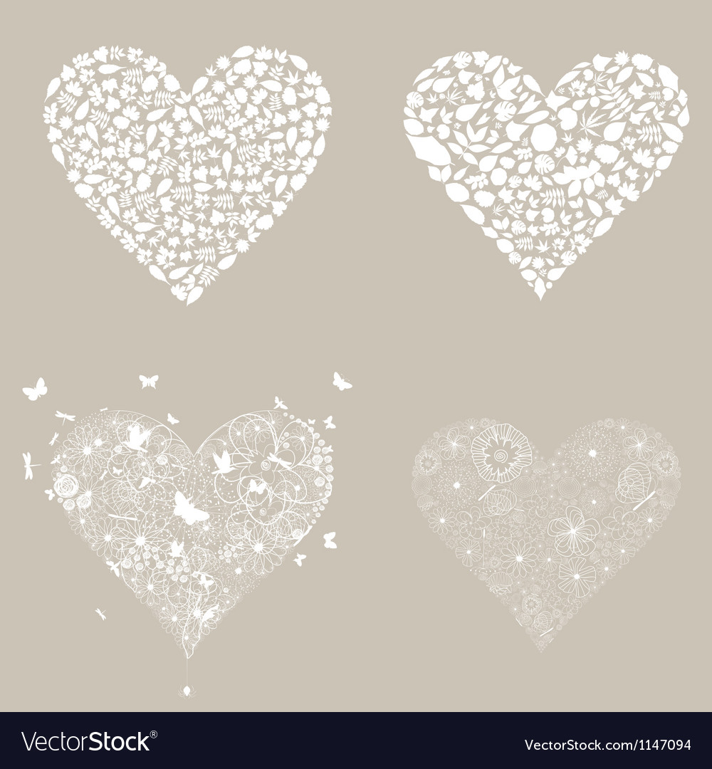 Heart design an element3 vector | Price: 1 Credit (USD $1)