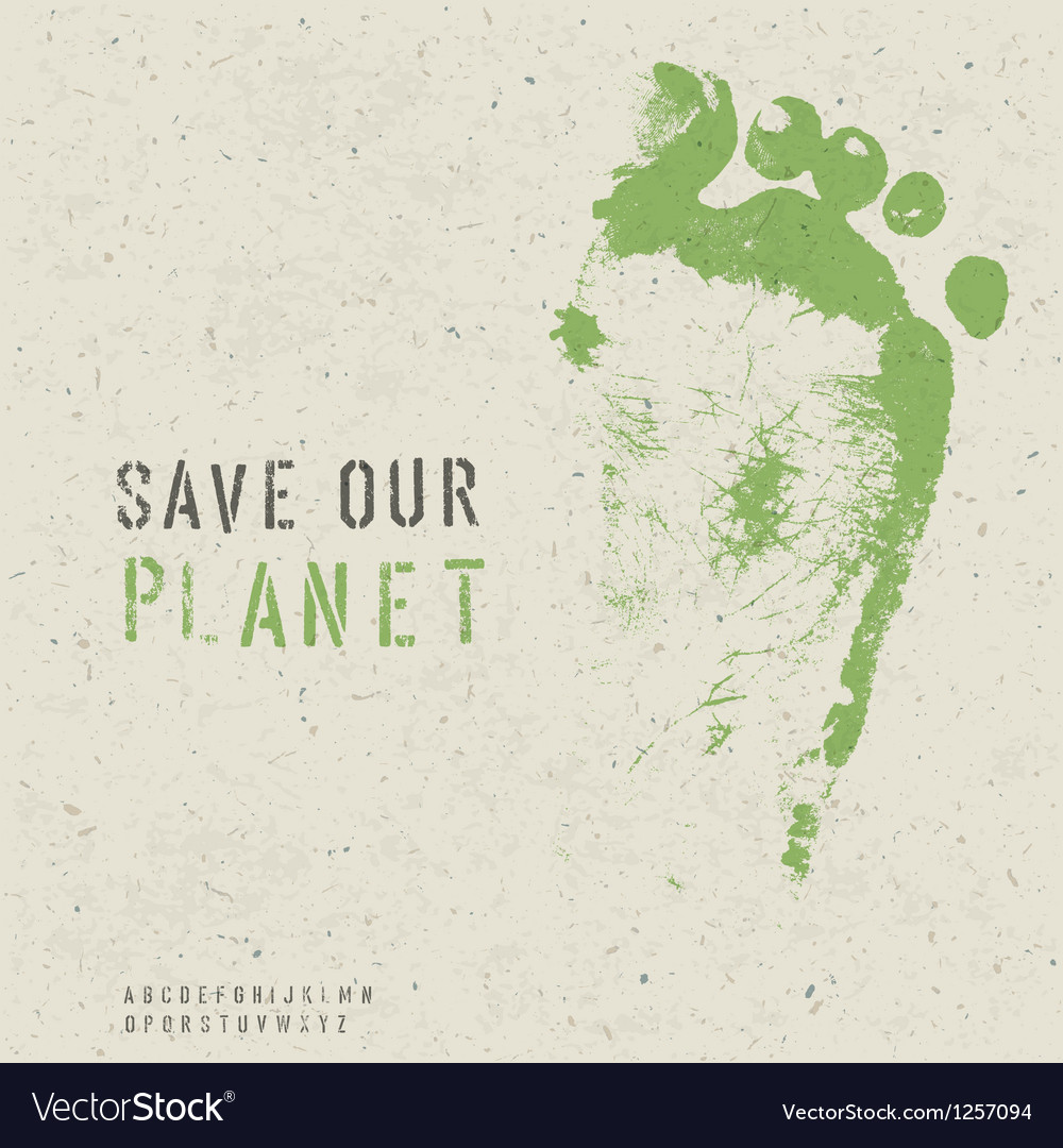 Save our planet poster vector | Price: 1 Credit (USD $1)