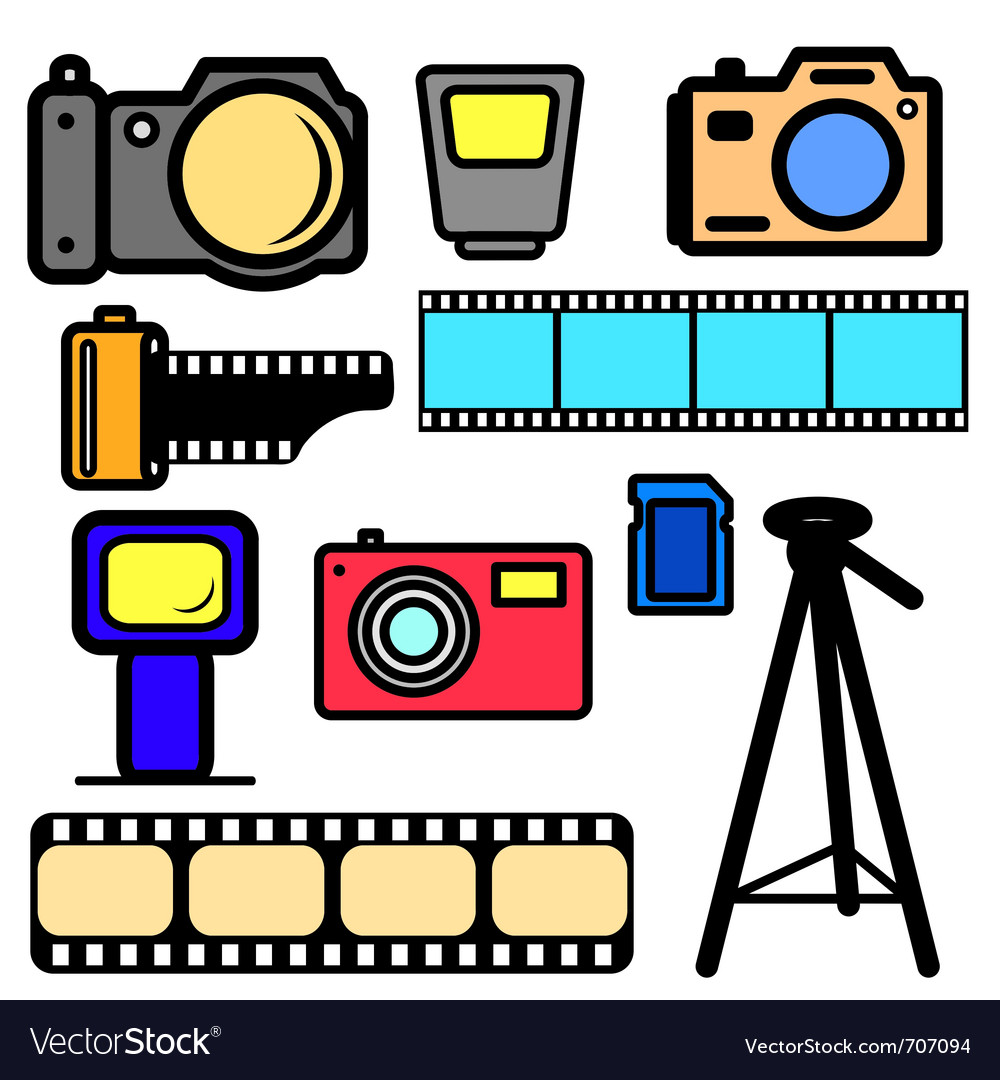Set of cameras vector | Price: 1 Credit (USD $1)