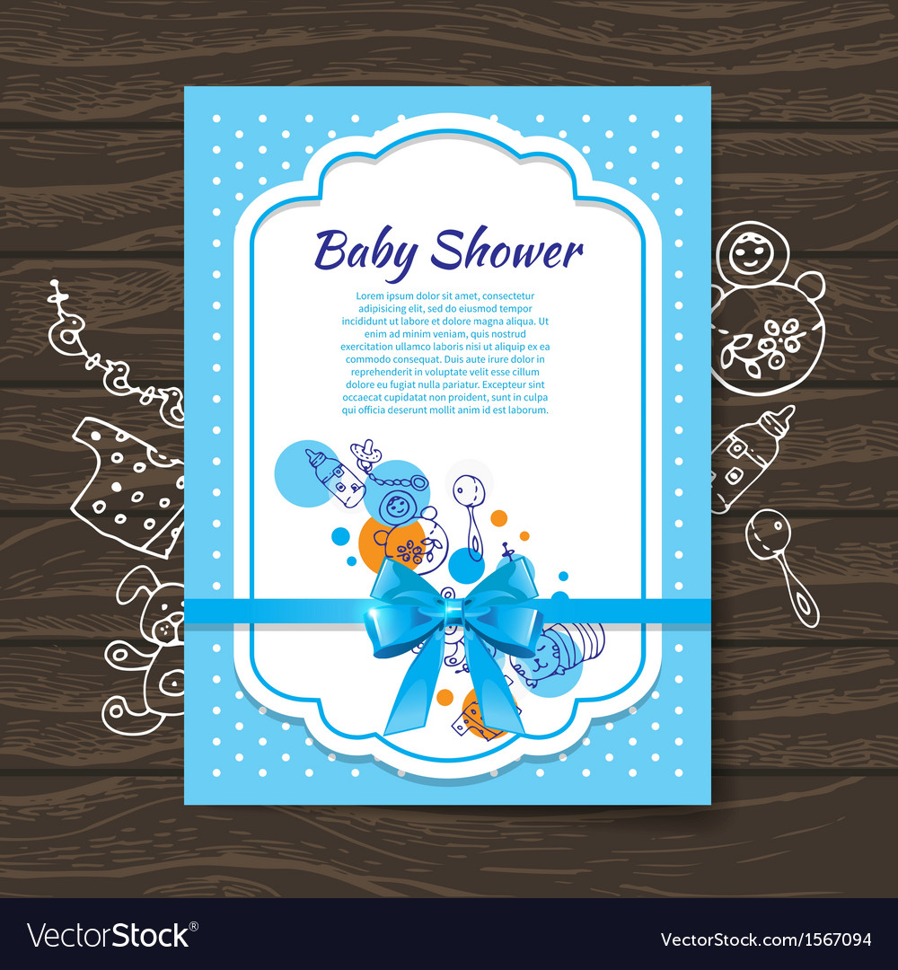 Sweet baby shower invitation vector | Price: 1 Credit (USD $1)