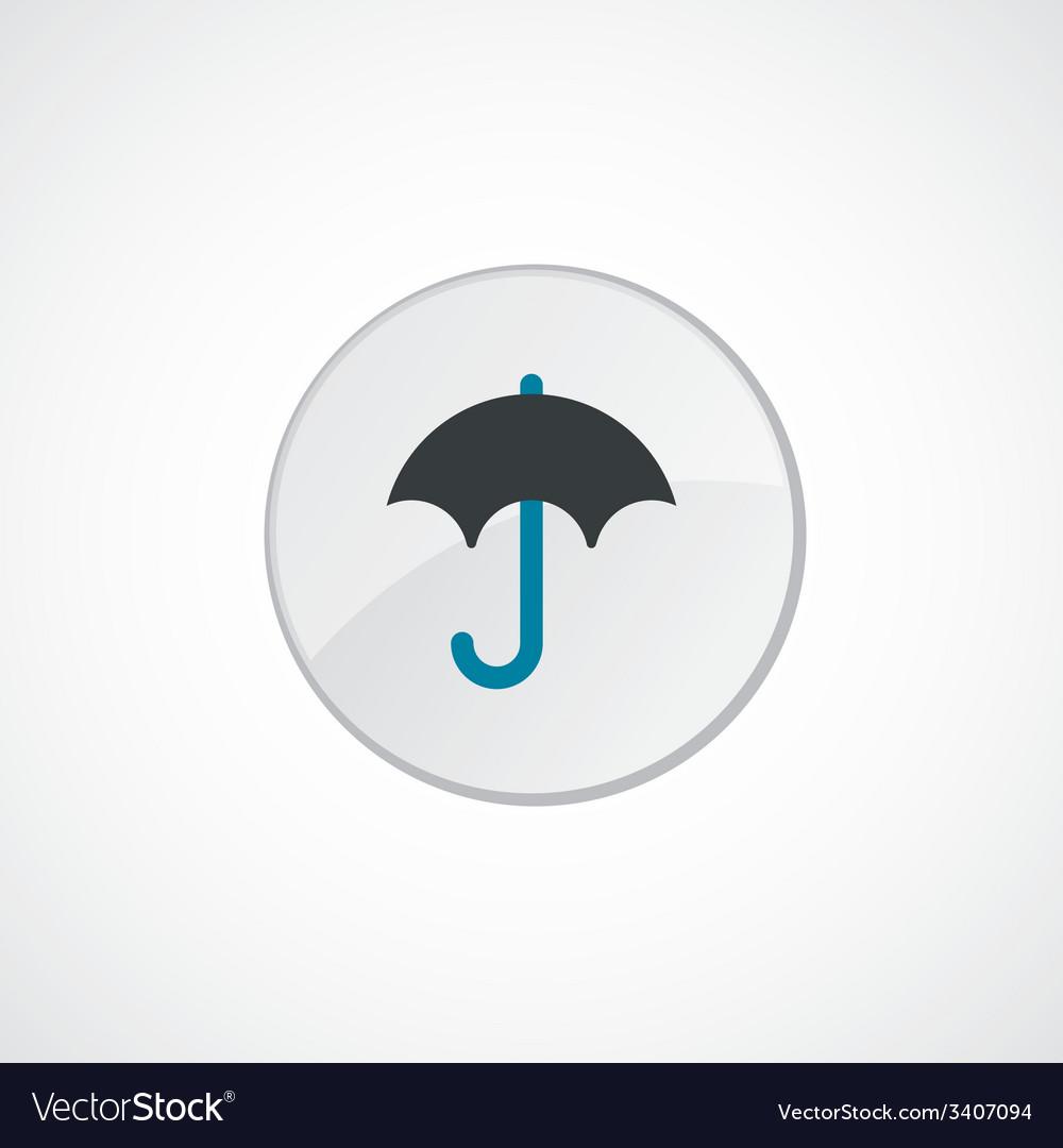 Umbrella icon 2 colored vector | Price: 1 Credit (USD $1)