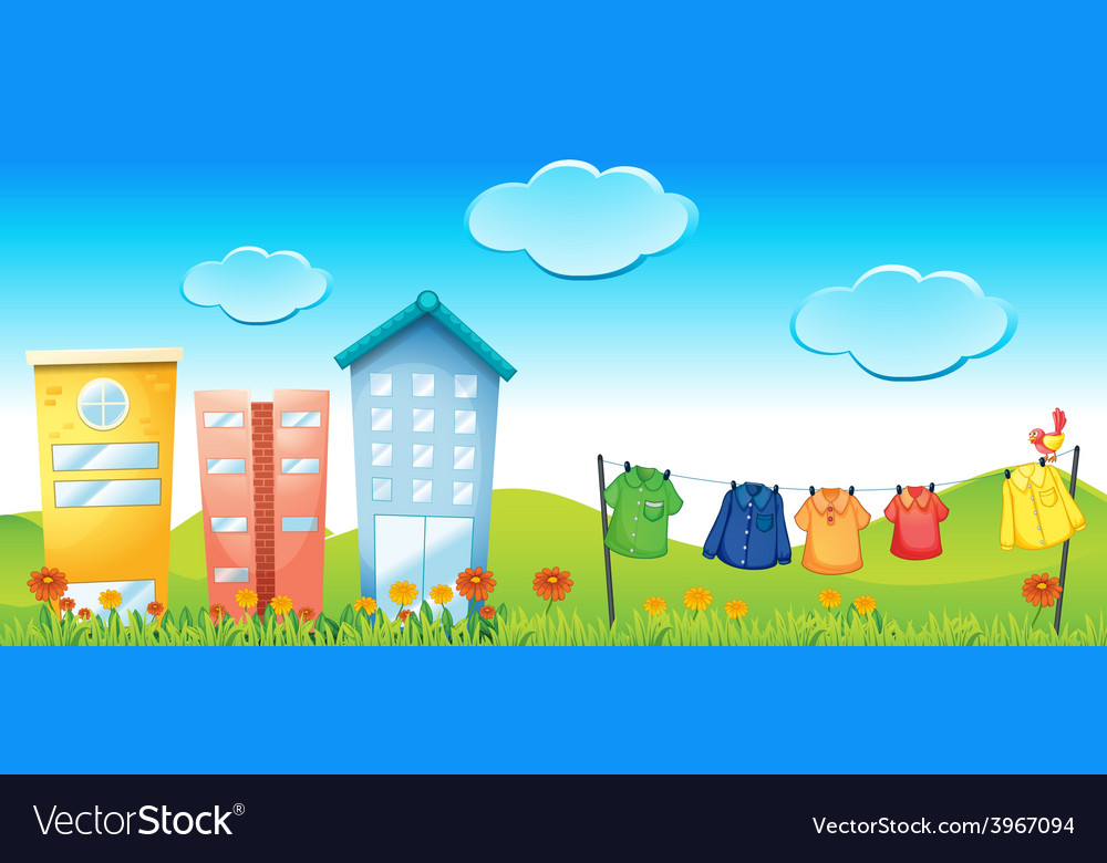 Urban scene vector | Price: 3 Credit (USD $3)