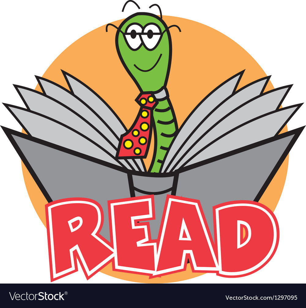 Bookworm vector | Price: 1 Credit (USD $1)