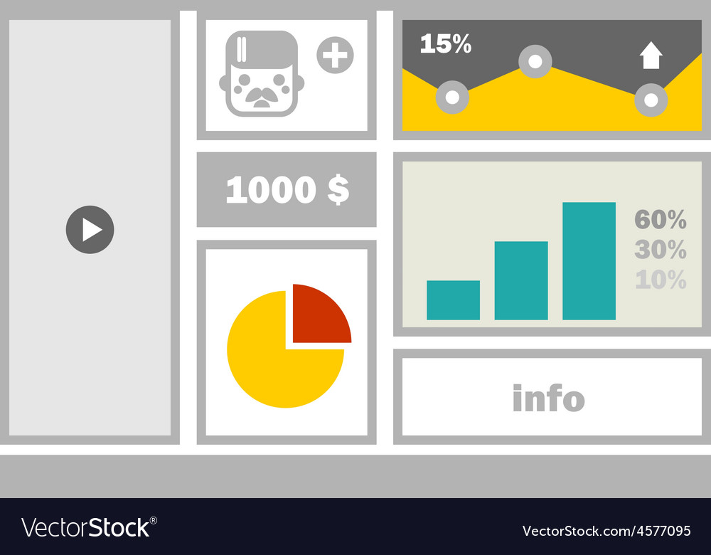 Business website menu vector | Price: 1 Credit (USD $1)