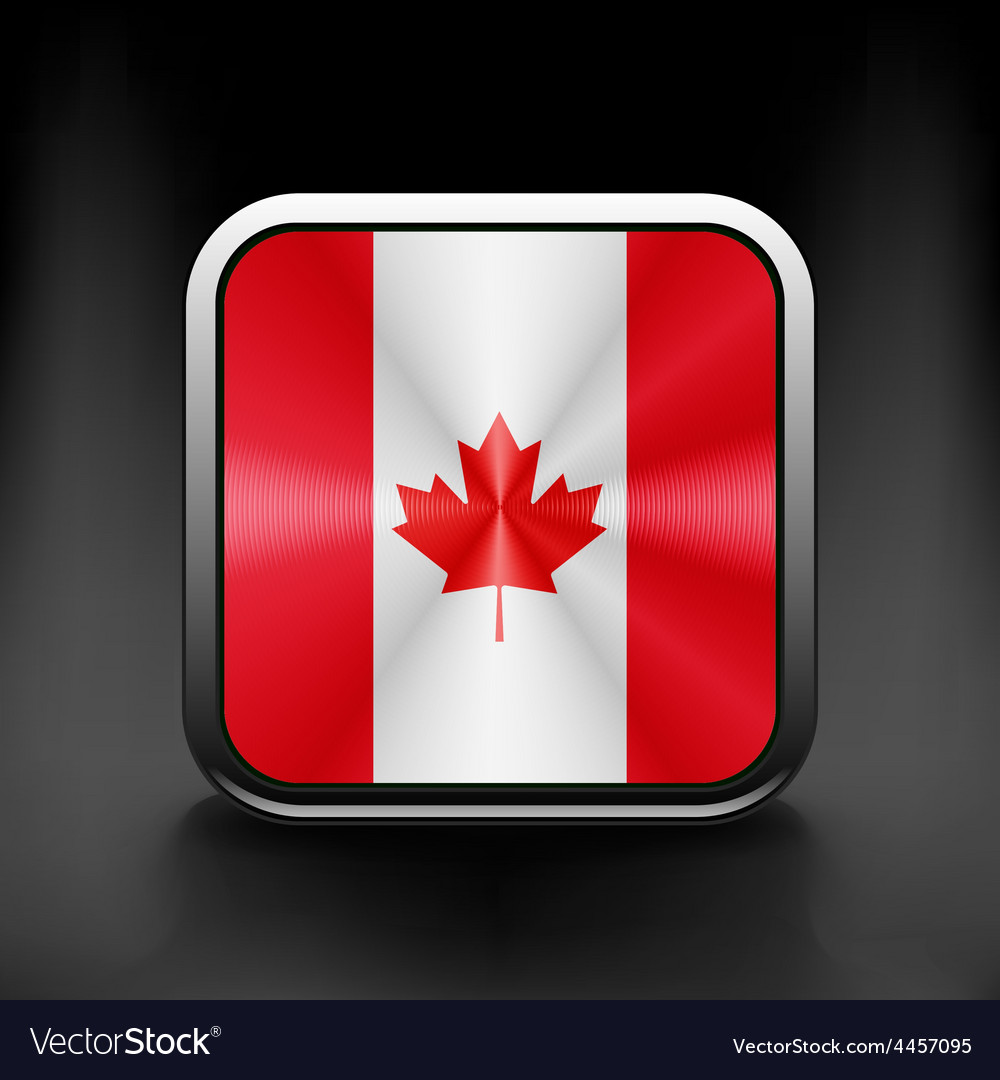 Canada icon flag national travel icon country vector | Price: 1 Credit (USD $1)