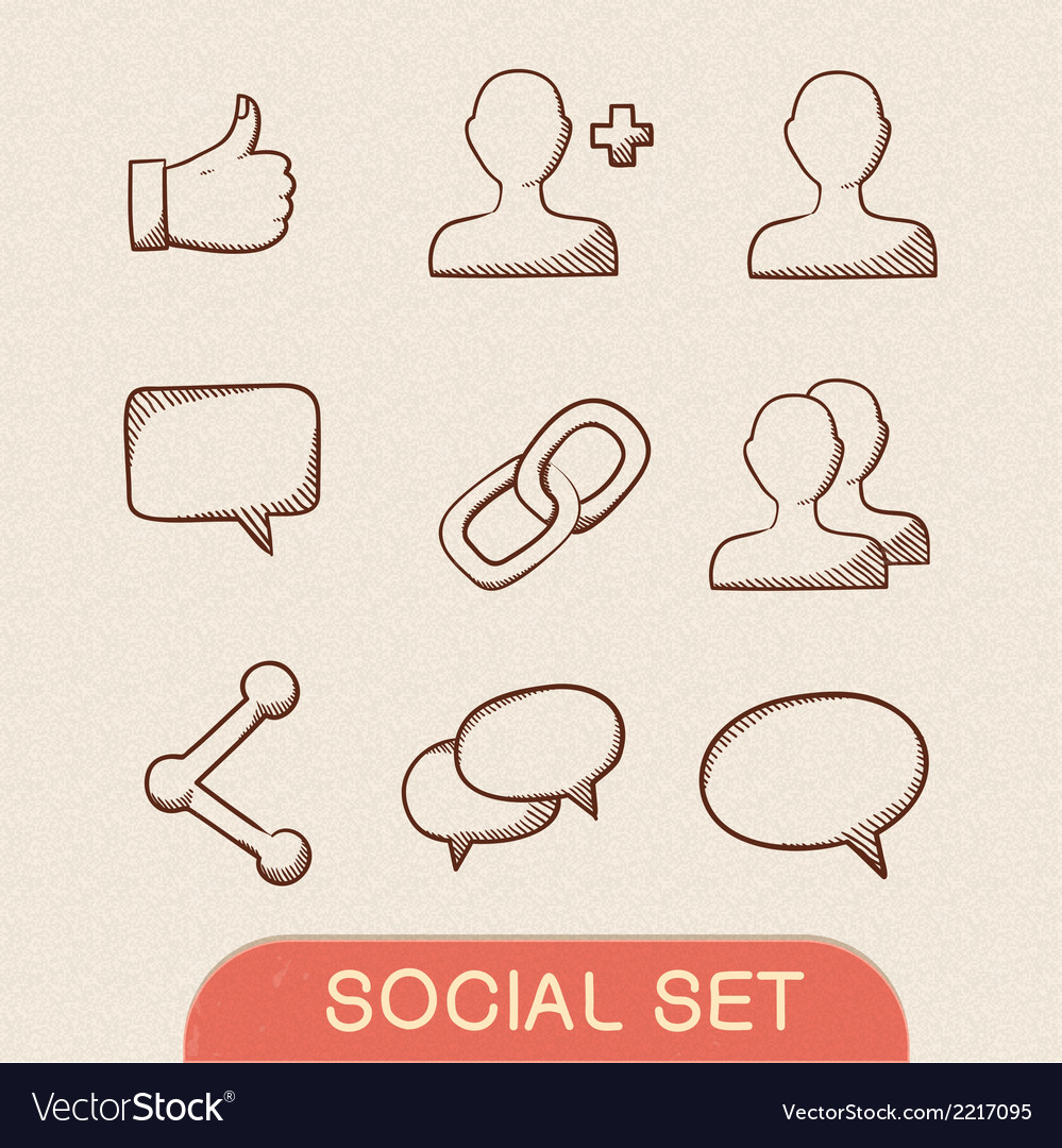 Communication symbols set vector | Price: 1 Credit (USD $1)