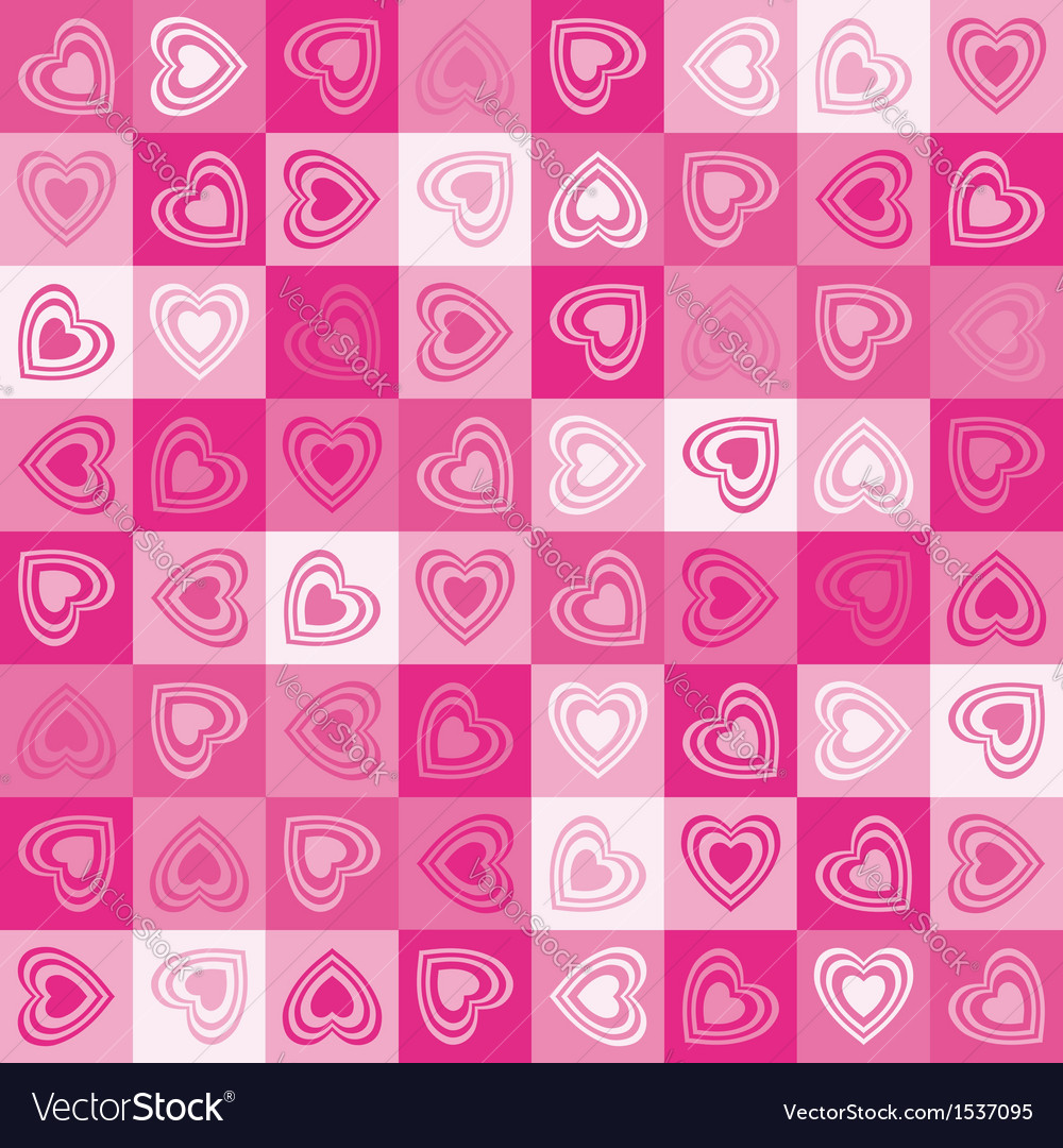 Cute heart seamless background vector | Price: 1 Credit (USD $1)