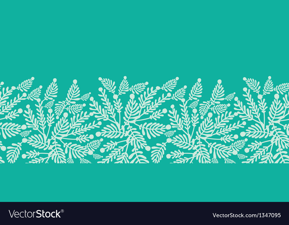 Emerald green plants horizontal seamless pattern vector | Price: 1 Credit (USD $1)