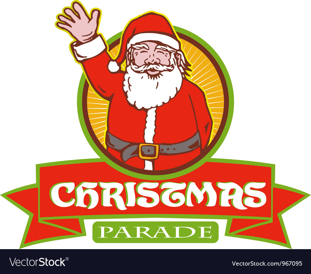 Father christmas santa claus parade vector | Price: 1 Credit (USD $1)