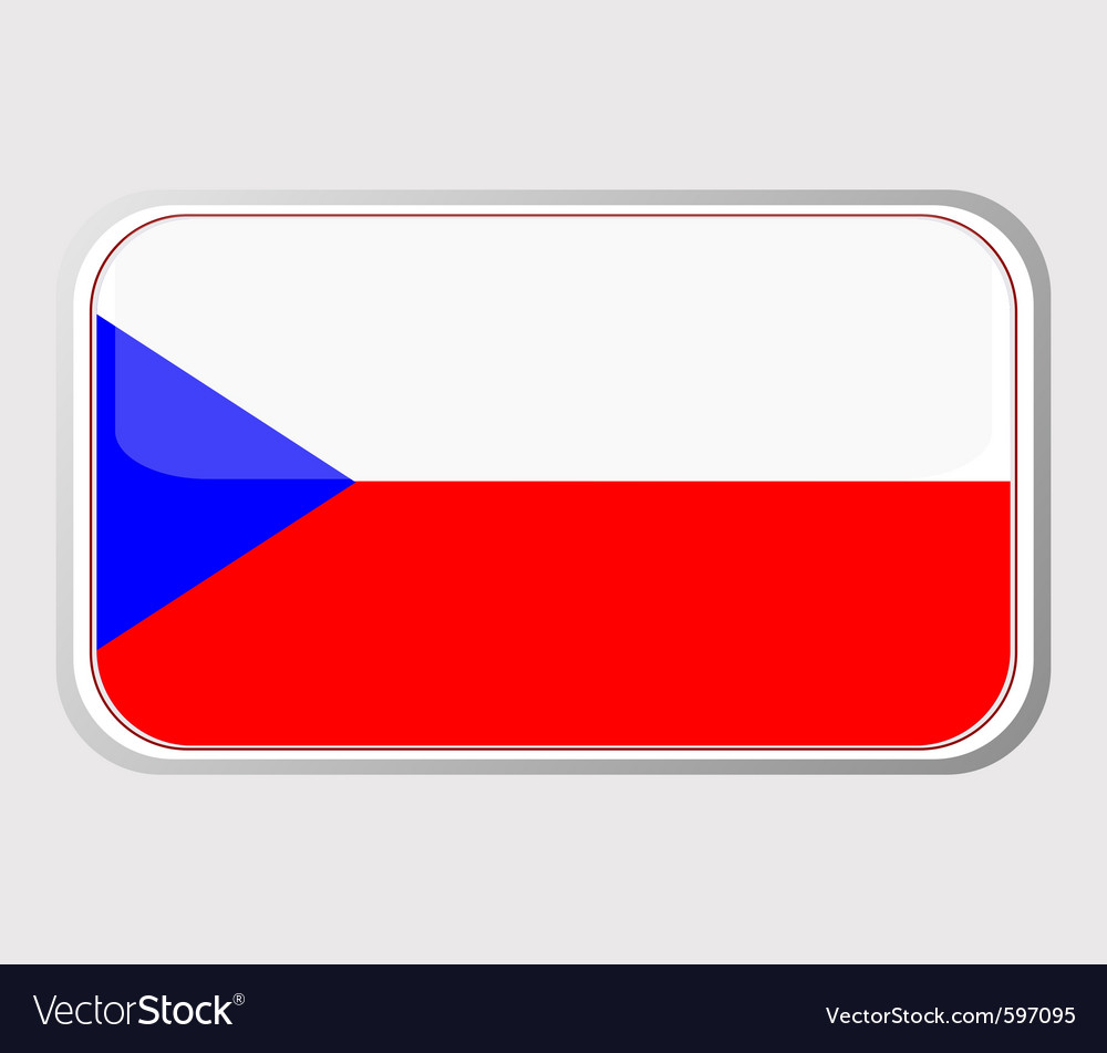 Flag of czech vector | Price: 1 Credit (USD $1)