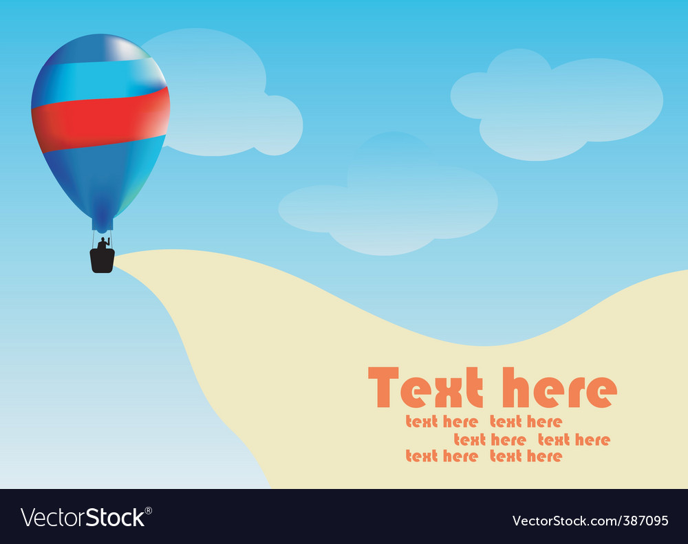 Hot air balloon landscape vector | Price: 1 Credit (USD $1)