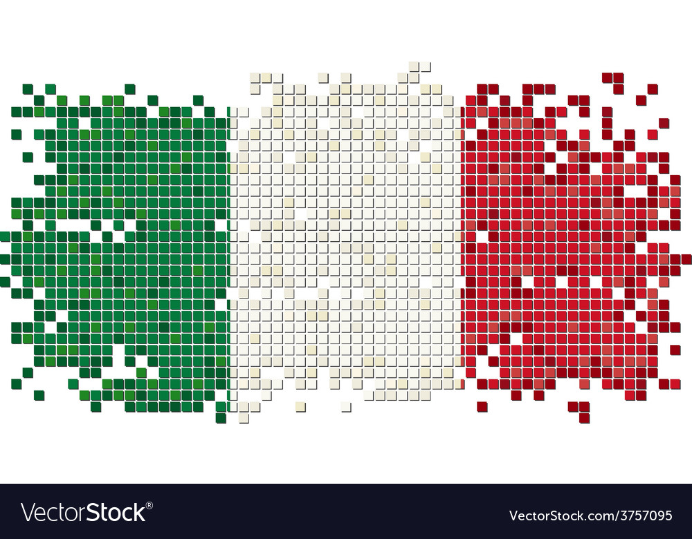 Italian grunge tile flag vector | Price: 1 Credit (USD $1)
