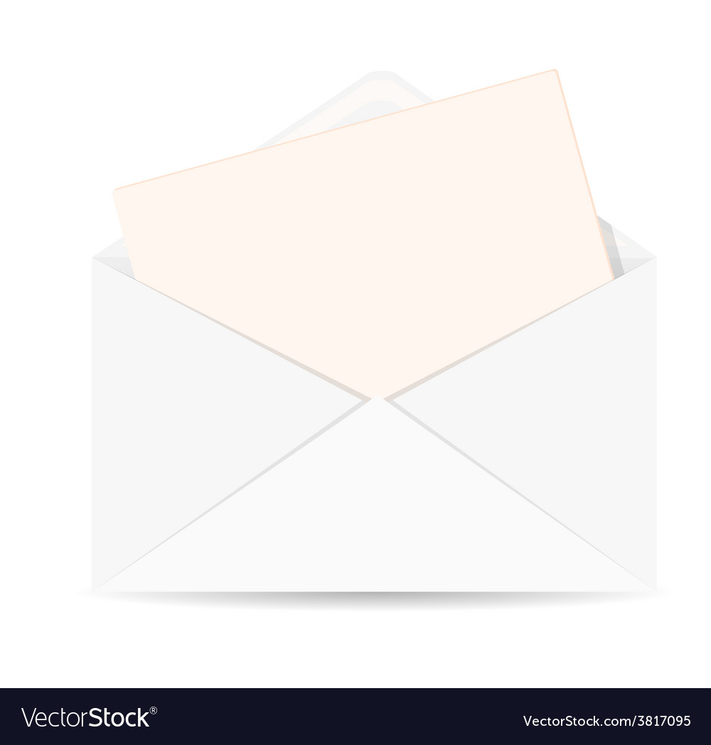Open envelope with letter icon vector | Price: 1 Credit (USD $1)
