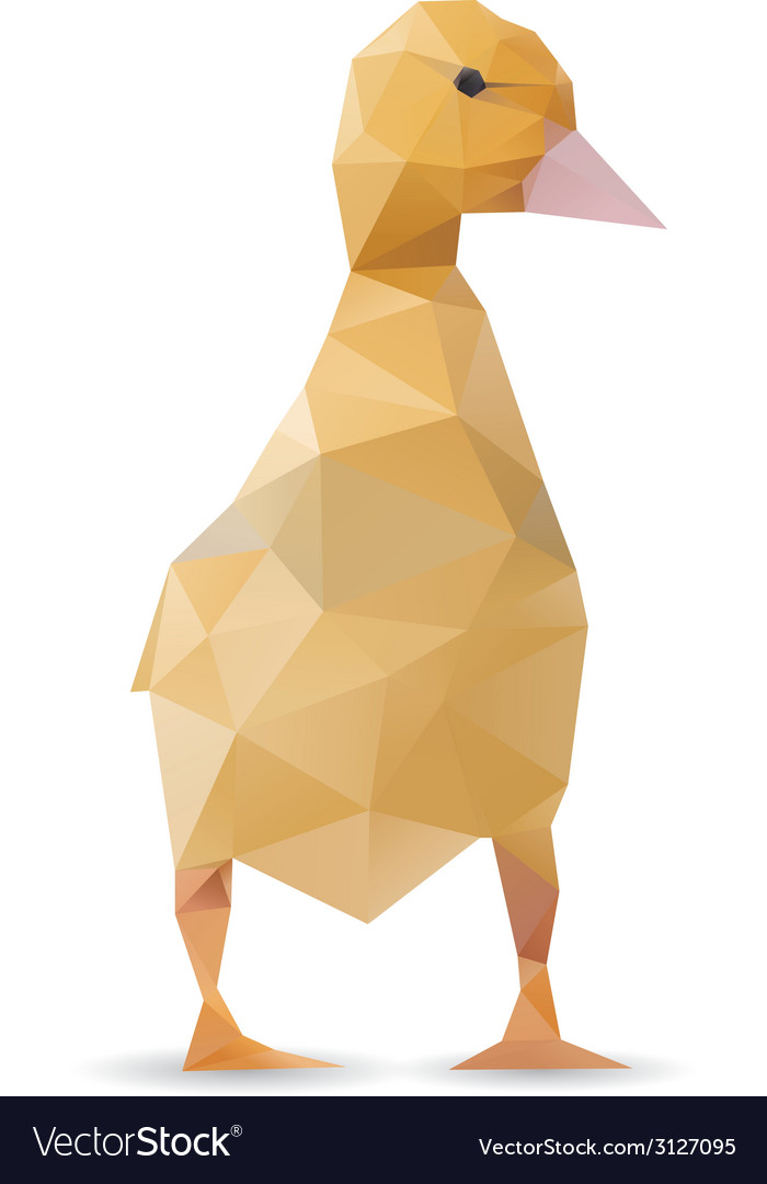 Origami duck isolated vector | Price: 1 Credit (USD $1)