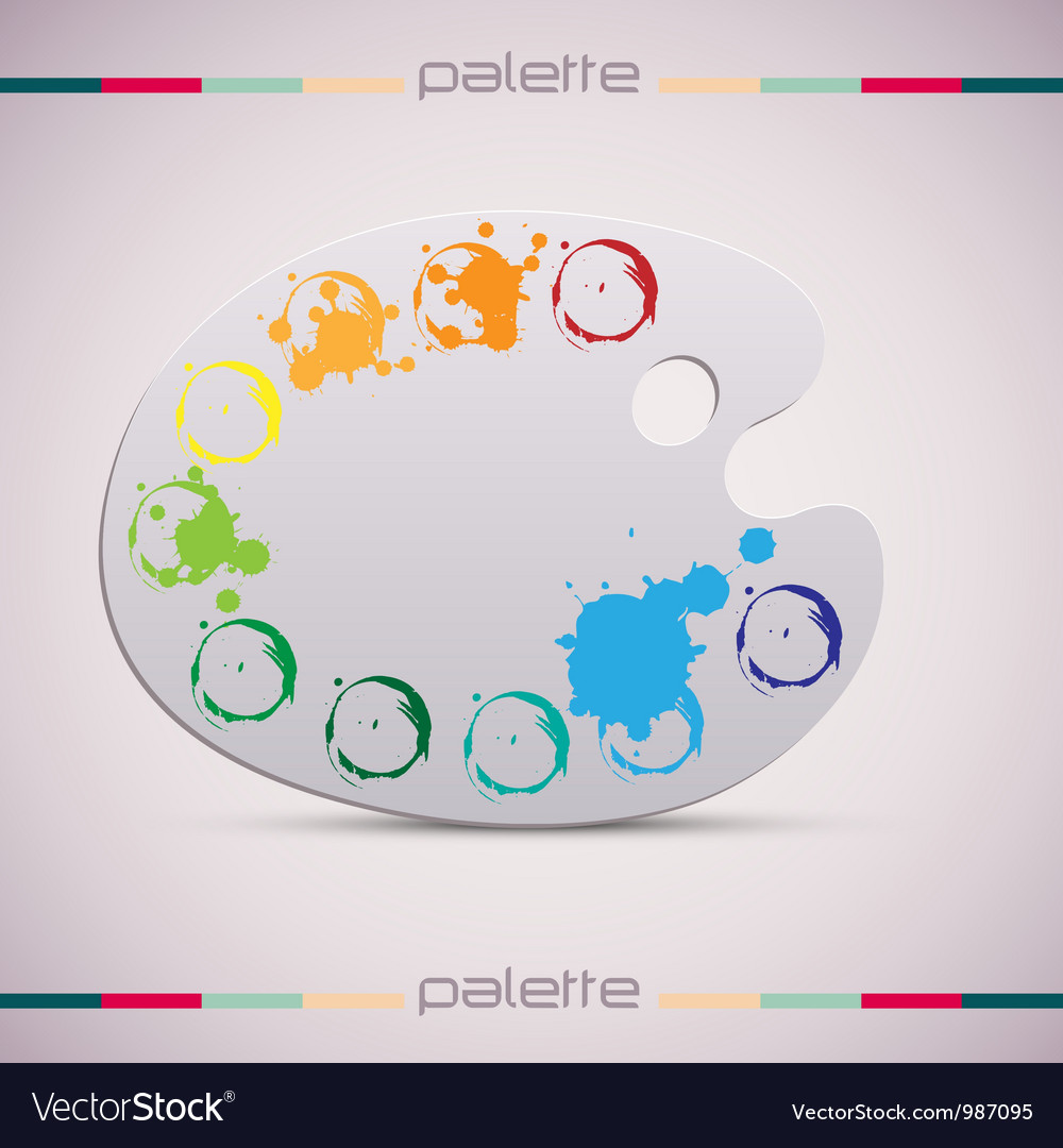 Wooden art palette color vector | Price: 1 Credit (USD $1)