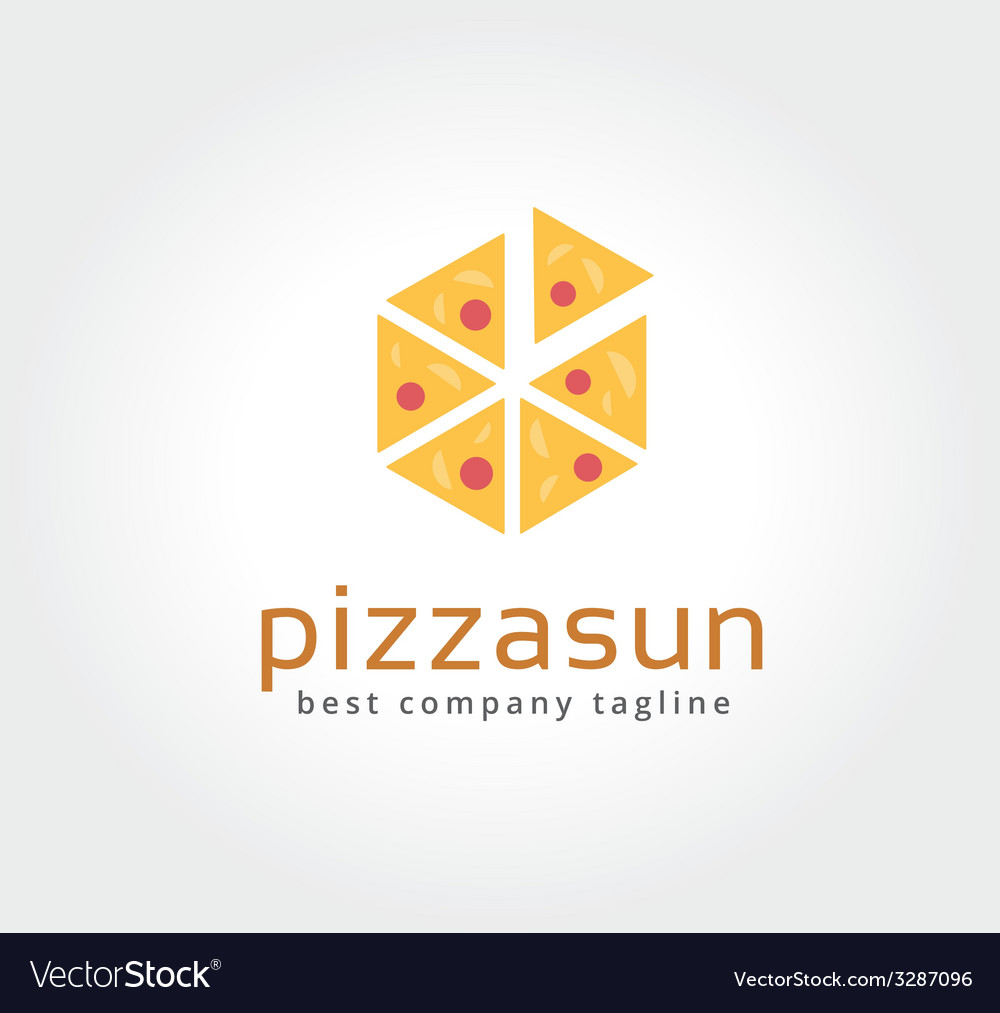 Abstract pizza logo icon concept logotype template vector | Price: 1 Credit (USD $1)