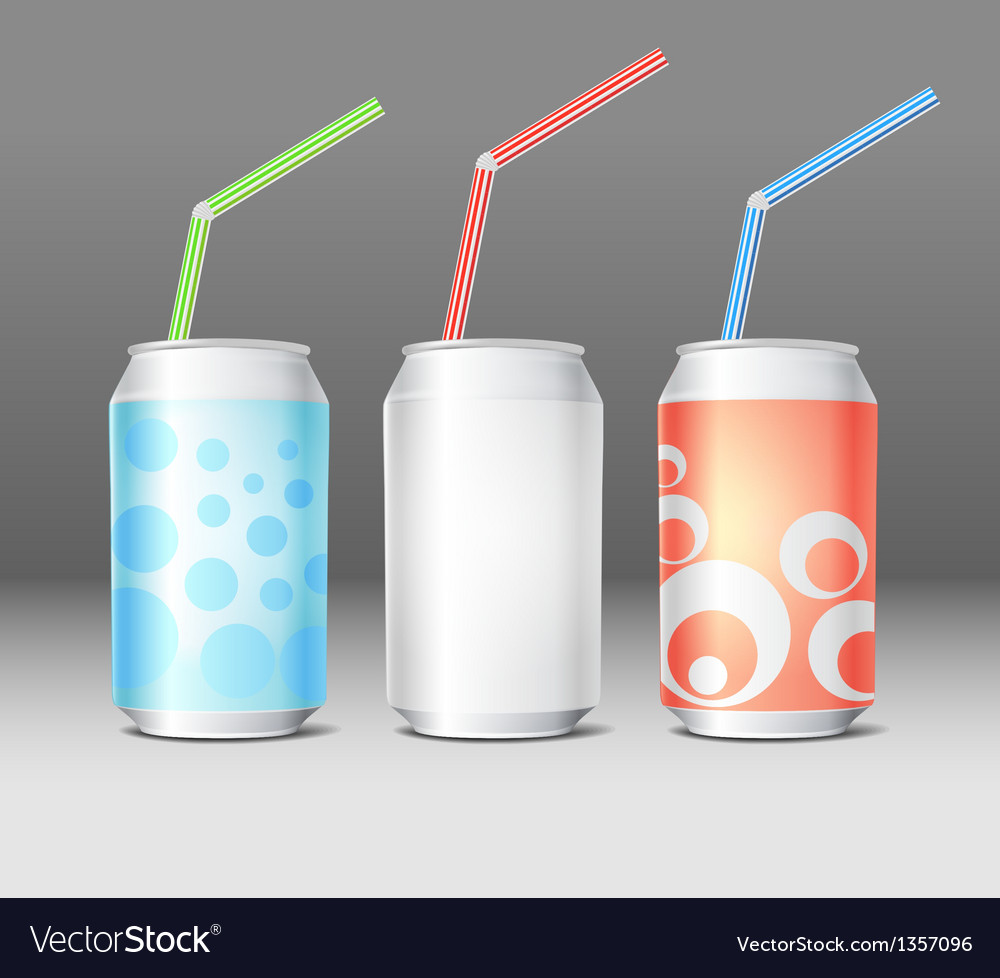 Collection of colorful steel cans with ornament vector | Price: 1 Credit (USD $1)