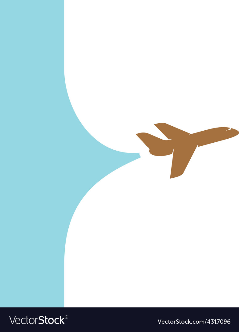 Flying plane with banner space from tail design vector | Price: 1 Credit (USD $1)