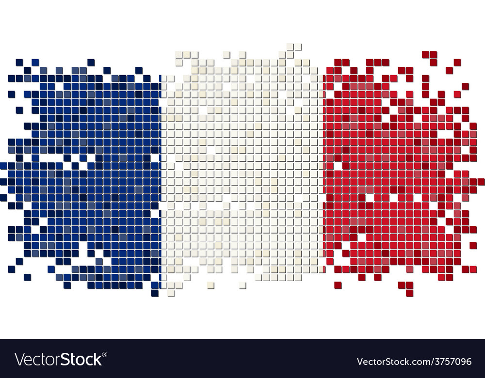 French grunge tile flag vector | Price: 1 Credit (USD $1)