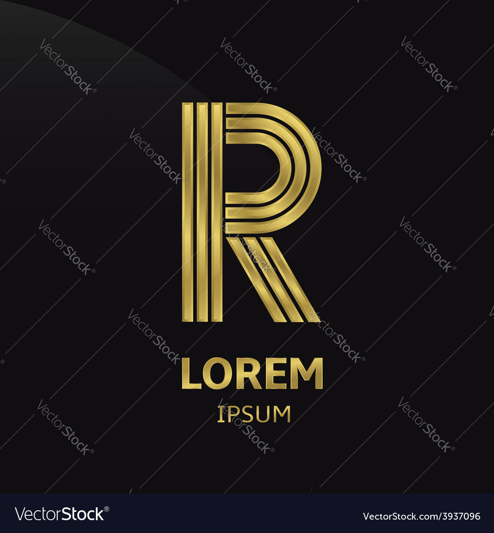 Golden letter symbol vector | Price: 1 Credit (USD $1)