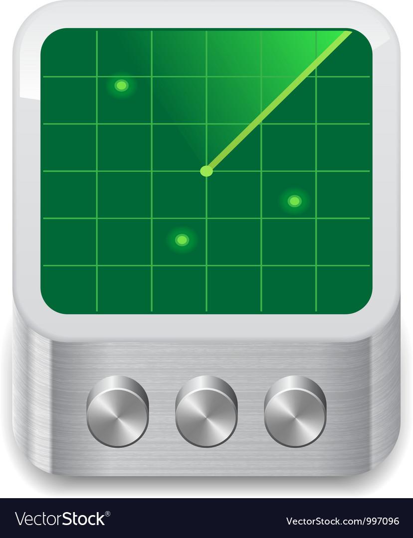 Icon for radar vector