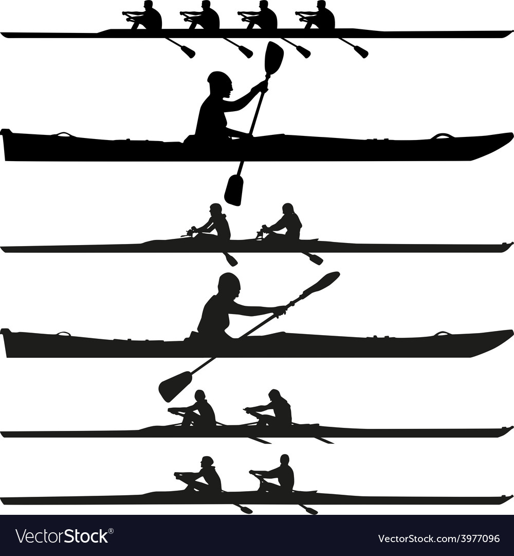 Kayak silhouette vector | Price: 1 Credit (USD $1)