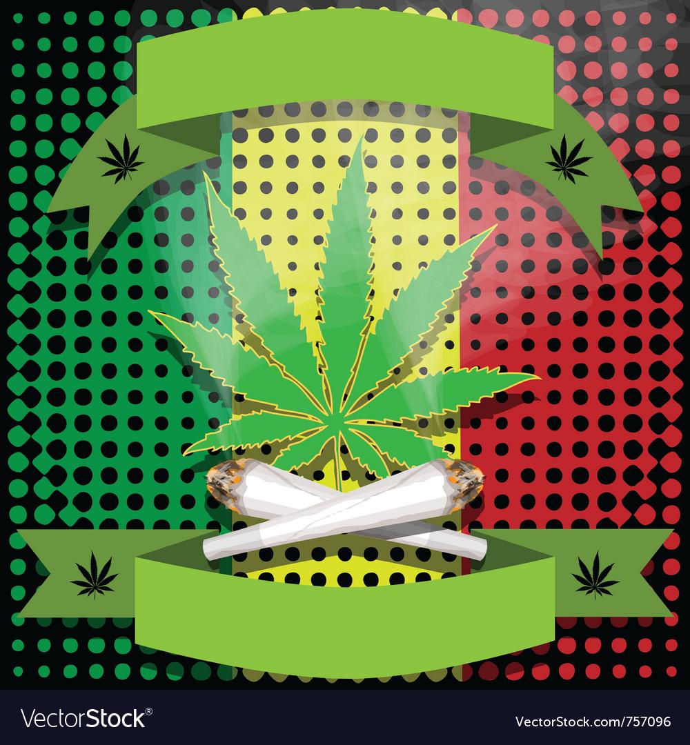 Marijuana-cannabis-joint vector | Price: 1 Credit (USD $1)