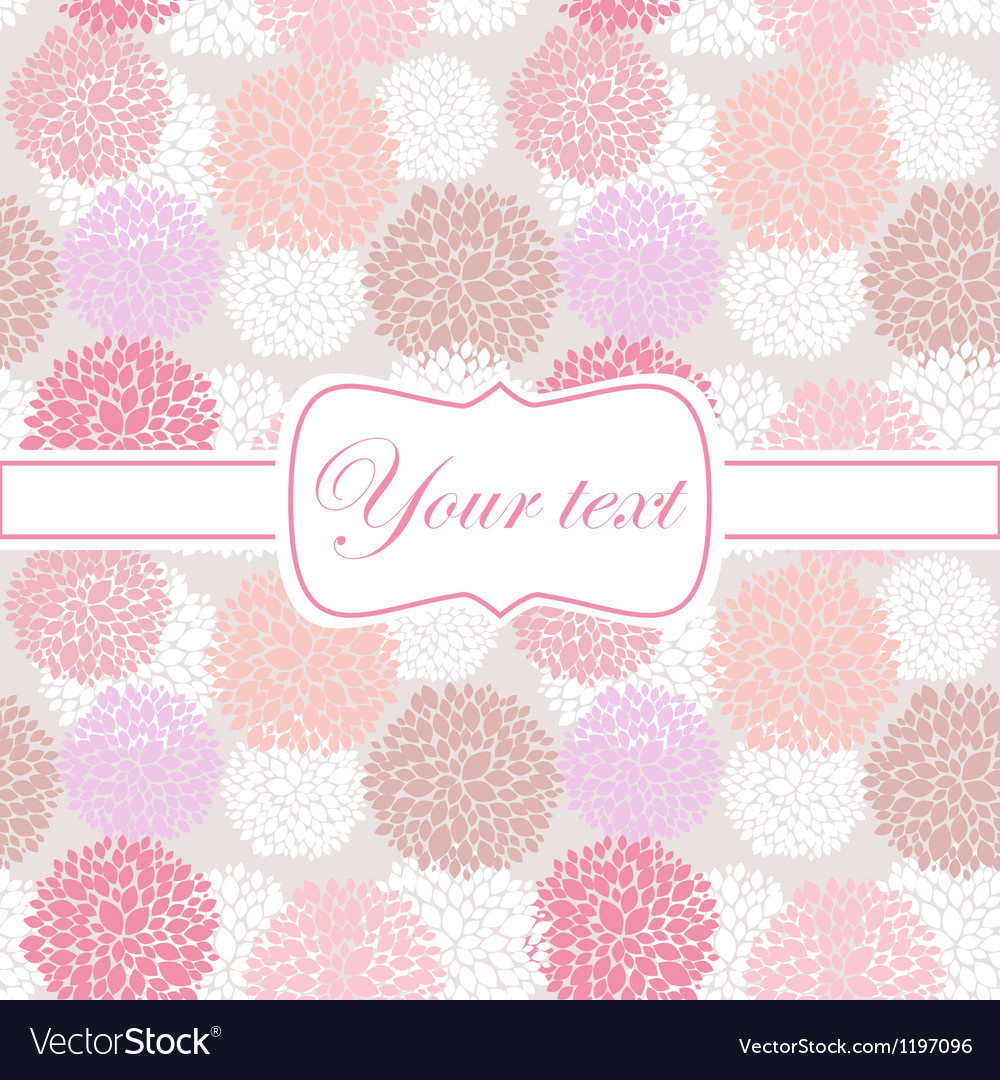 Pink card invitation with peony flowers vector | Price: 1 Credit (USD $1)