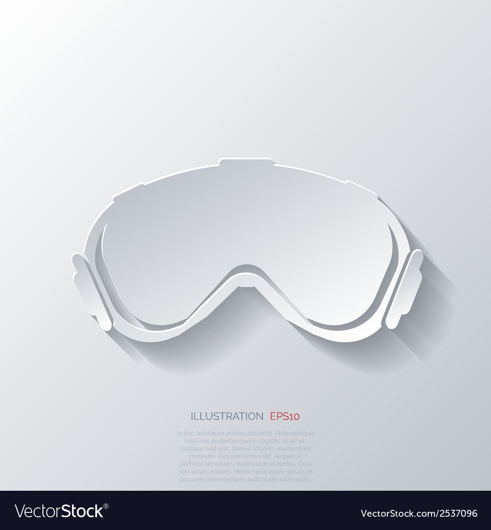 Ski goggles vector | Price: 1 Credit (USD $1)