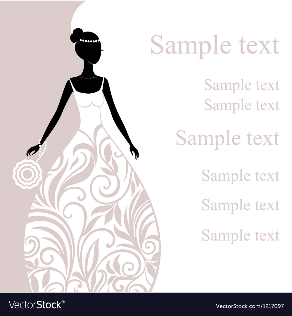 A beautiful young bride vector | Price: 1 Credit (USD $1)