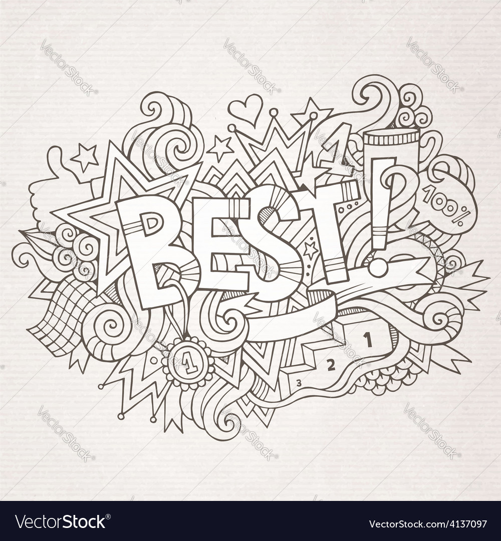 Best hand lettering and doodles elements vector | Price: 1 Credit (USD $1)