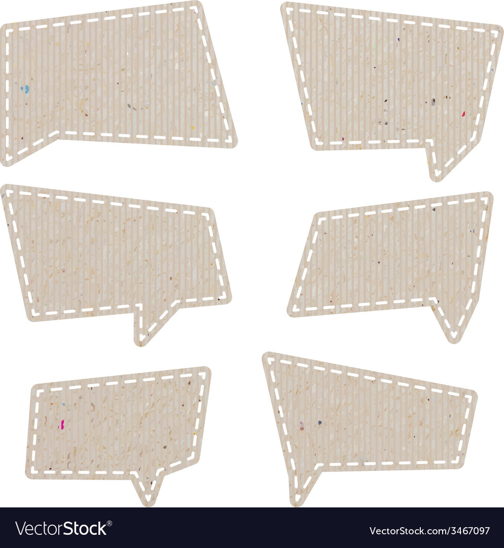 Bubble talk tag recycled paper paths inside vector | Price: 1 Credit (USD $1)