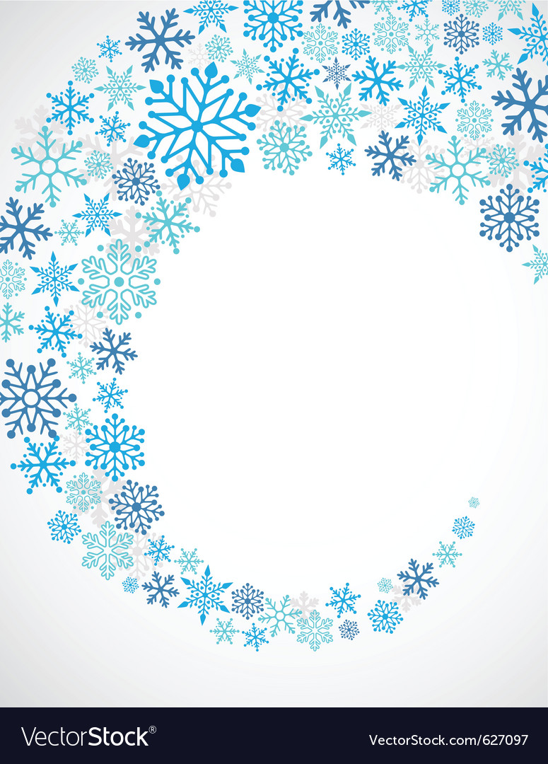Christmas blue background with snowflakes pattern vector | Price: 1 Credit (USD $1)
