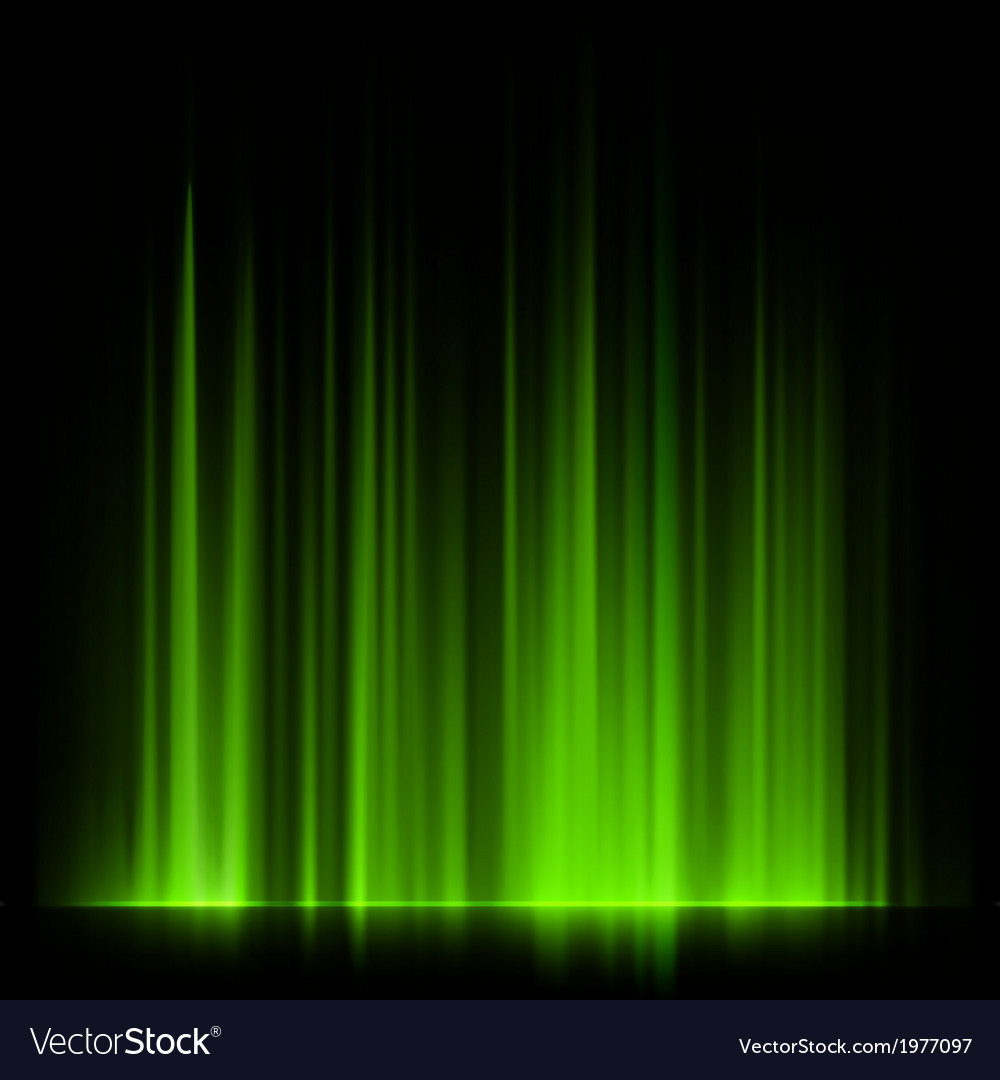 Green northern lights aurora borealis eps 10 vector | Price: 1 Credit (USD $1)