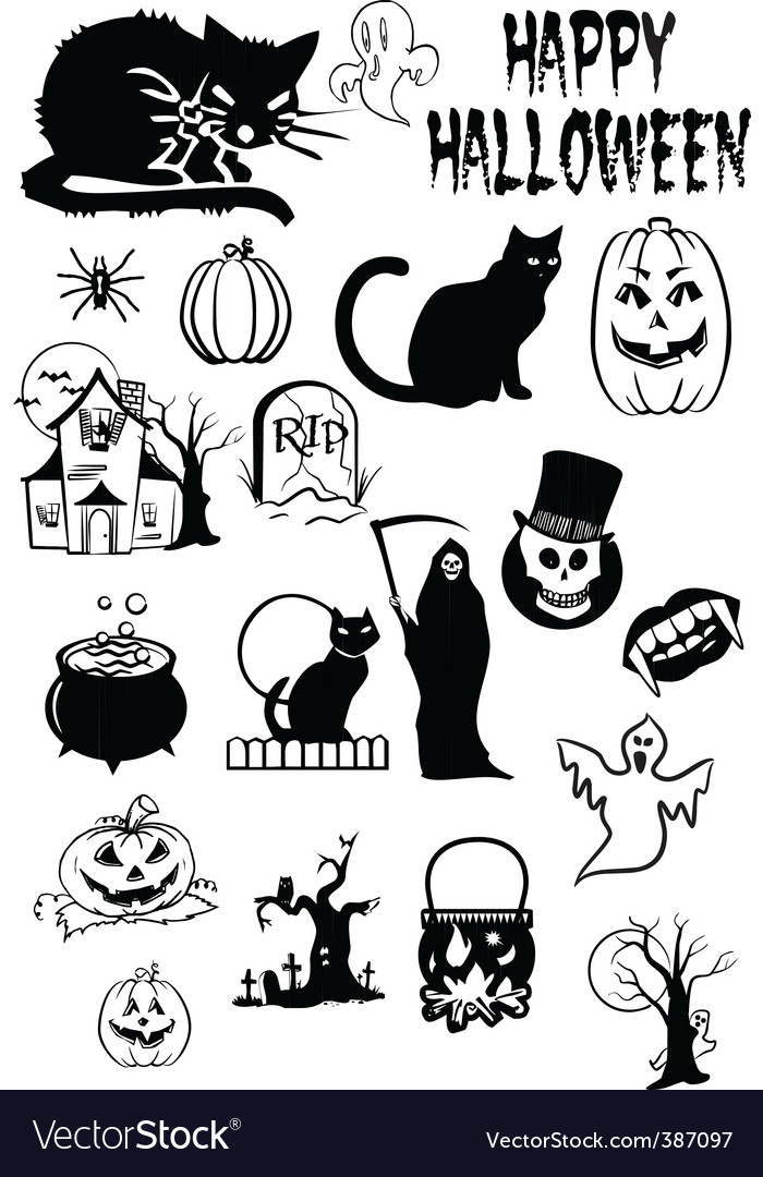 Halloween symbols vector | Price: 1 Credit (USD $1)