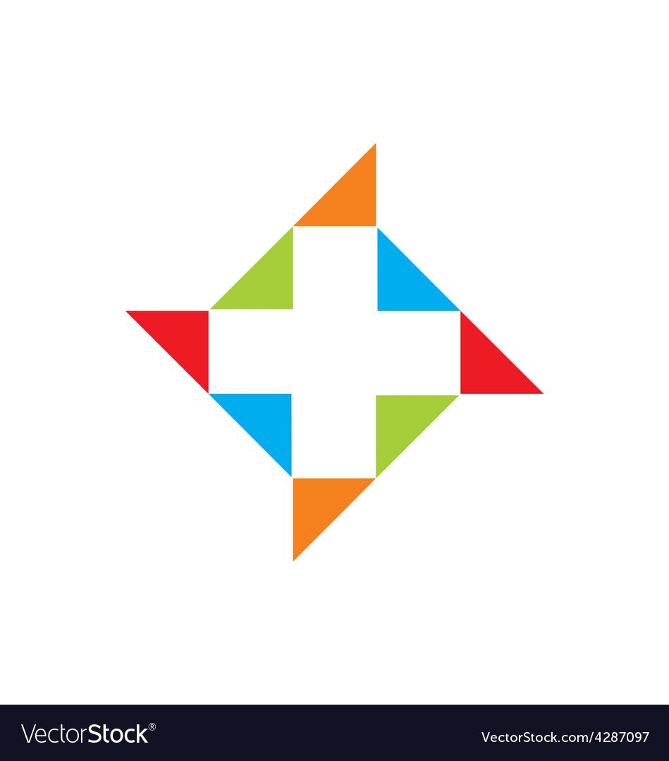 Medic cross color logo vector | Price: 1 Credit (USD $1)