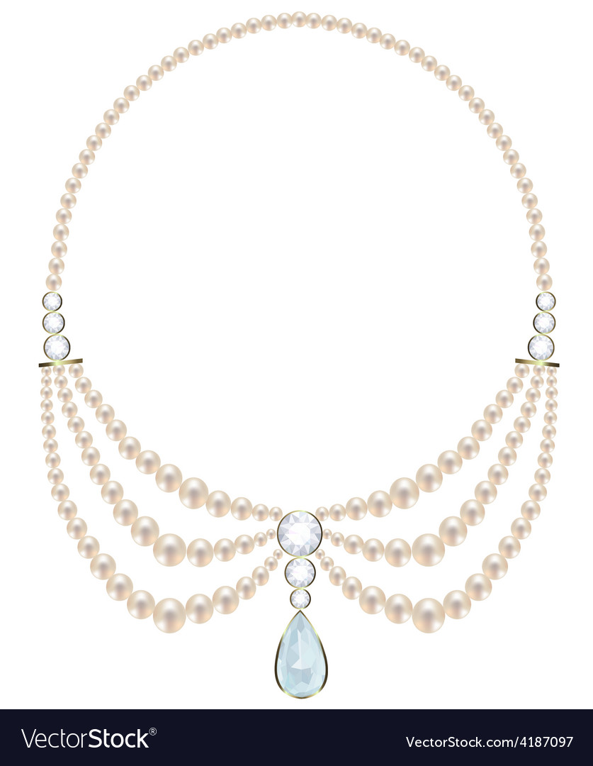 Pearl necklace vector | Price: 1 Credit (USD $1)