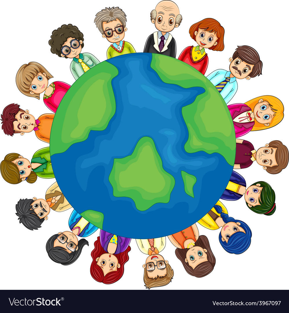 People and earth vector | Price: 1 Credit (USD $1)
