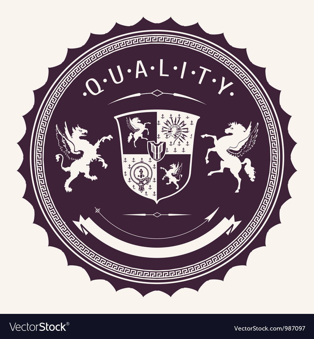 Quality badges vector | Price: 1 Credit (USD $1)