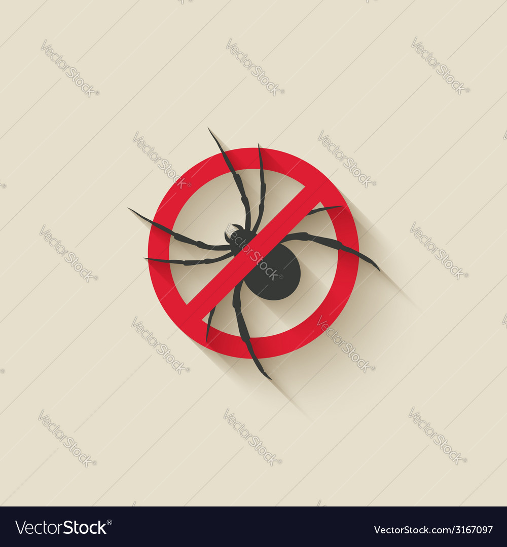 Spider warning sign vector | Price: 1 Credit (USD $1)