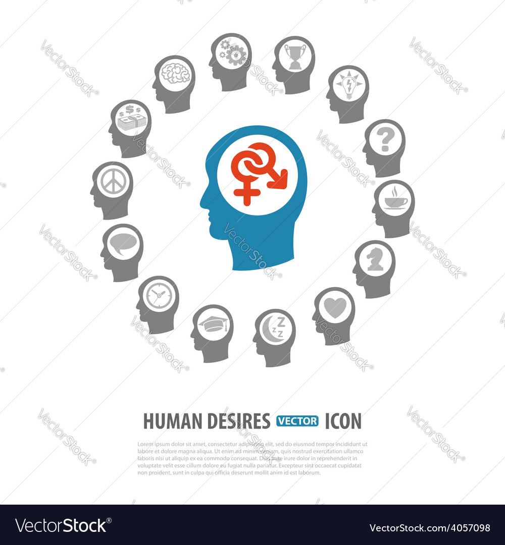 Human desires icons vector | Price: 1 Credit (USD $1)