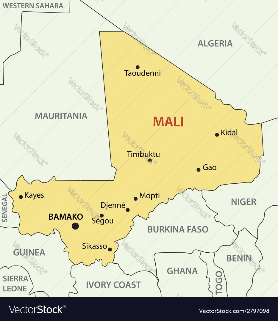 Republic of mali - map vector | Price: 1 Credit (USD $1)