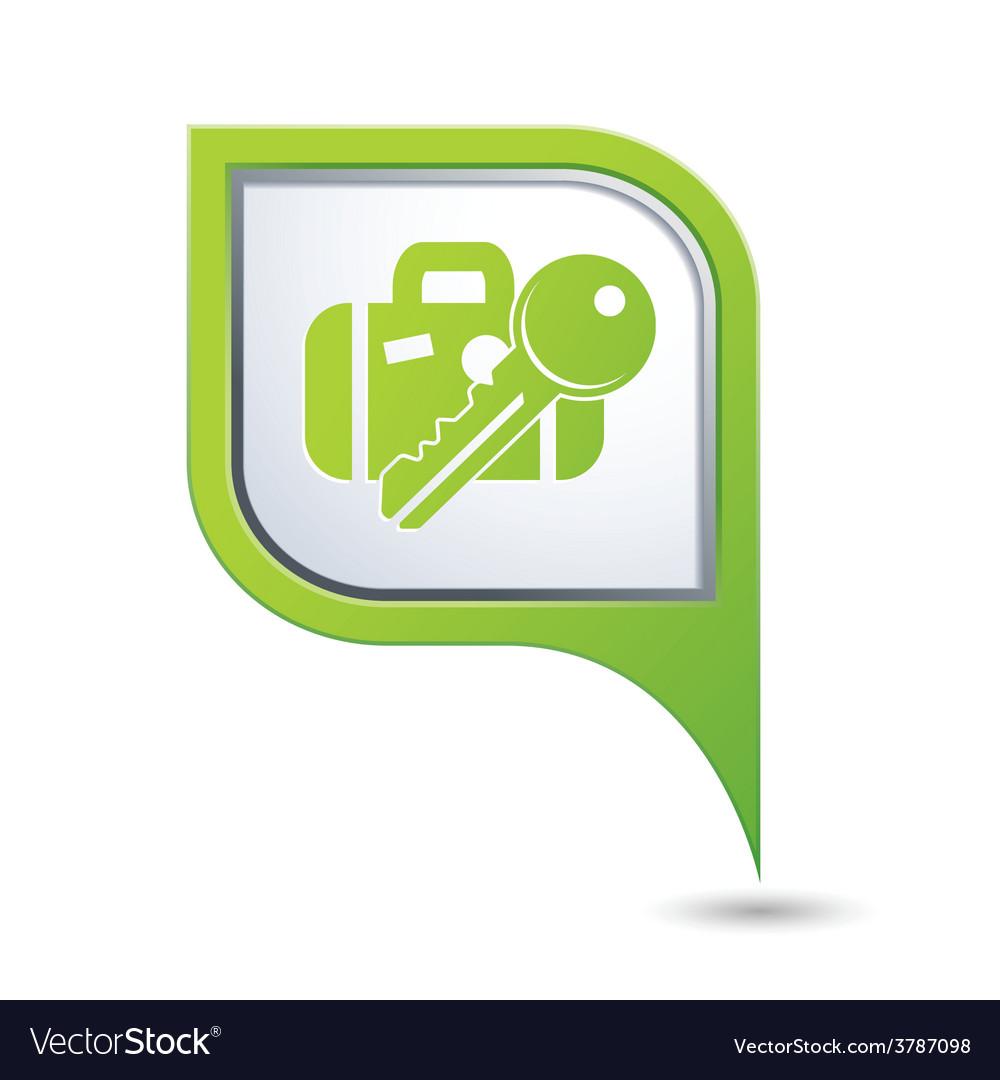 Suitecaseandkey green pointer vector | Price: 1 Credit (USD $1)